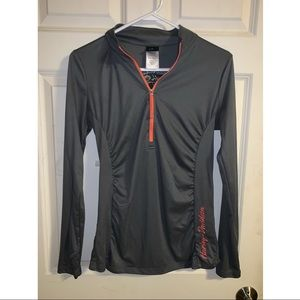 Harley Davidson 3/4 Zip-up Sweatshirt